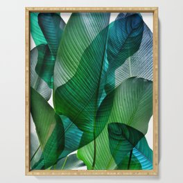 Palm leaf jungle Bali banana palm frond greens Serving Tray