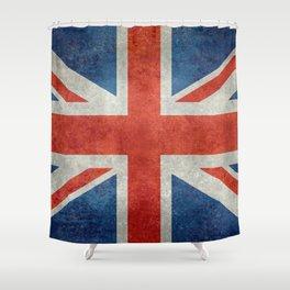 British flag of the UK, retro style Shower Curtain