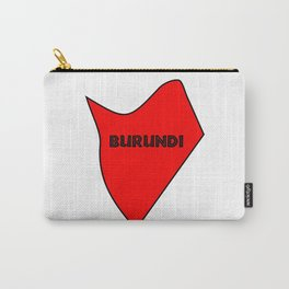 Burundi Silhouette Map Carry-All Pouch