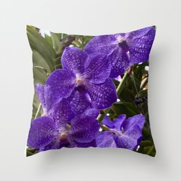 purple flourish Throw Pillow