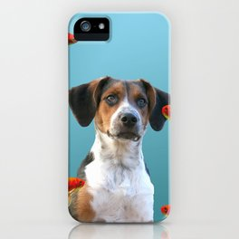 Jack Russel Dog with Goldfishes iPhone Case