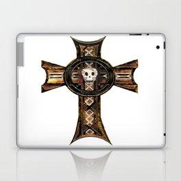 Celtic Cross With Skull Laptop & iPad Skin