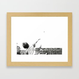 FIGHT FOR THE TEMPLES Framed Art Print