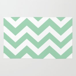 Turquoise green - green color - Zigzag Chevron Pattern Rug
