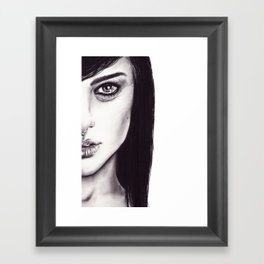 Under Your Bed (Natalie Portman)  Framed Art Print