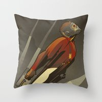 star lord Throw Pillows featuring The Star-Lord by Danny Haas