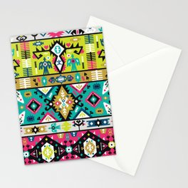 American indian ornate bright pattern design Stationery Cards