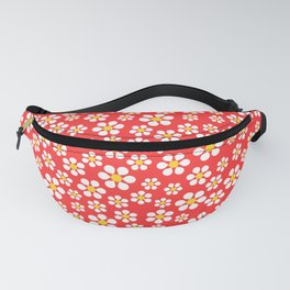 Dizzy Daisies - coral Fanny Pack