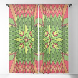 Poinsettia Flower Sheer Curtain
