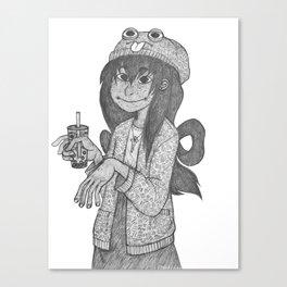 boba tea froppy Canvas Print