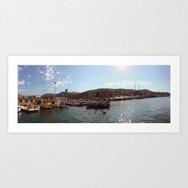 Port de Nice Floats Art Print