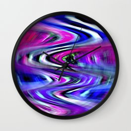 Colorful Imagination Curves Wall Clock