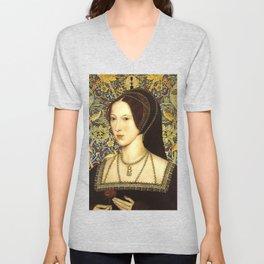Queen Anne Boleyn Unisex V-Neck