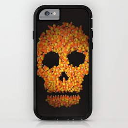 Candy Corn Skull iPhone Case