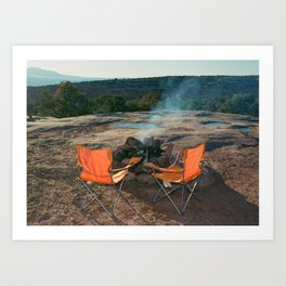 Hot Stones - VIII Art Print