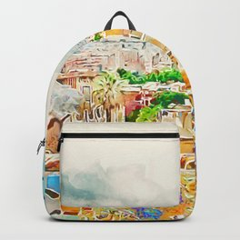 Barcelona, Parc Guell Backpack