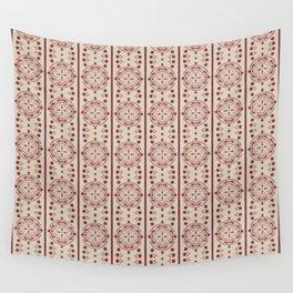 Mediterranean Vintage Pink Tiles Wall Tapestry