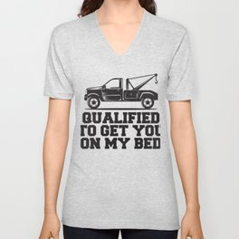Qualified To Get You On My Bed Gift Unisex V-Neck