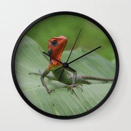 Gecko iguana Red Head Wall Clock