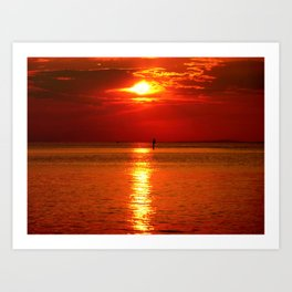 Sunset at Lake Constance Art Print