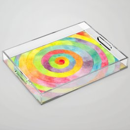 Rainbow spiral Acrylic Tray