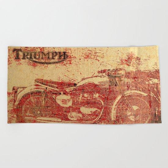 Triumph - Vintage Motorcycle Beach Towel