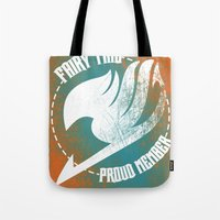 fairy tail Tote Bags featuring Fairy Tail by KisaSunrise
