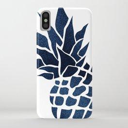 Pineapple, Big Blue, Denim Navy iPhone Case