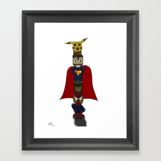 POP -TOTEM Framed Art Print