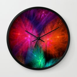 Butterfly Lightshow Wall Clock