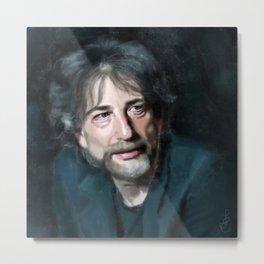 Portrait of Nail Gaiman Metal Print