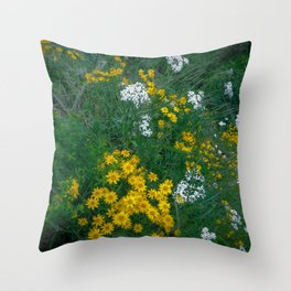 Flowers On the Edge Throw Pillow