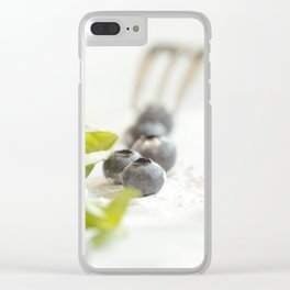 Fresh Bluebeeries with sugar Clear iPhone Case