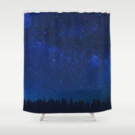 WATCHING THE STARS Shower Curtain
