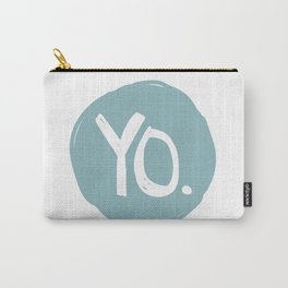 Yo. Turquoise Carry-All Pouch