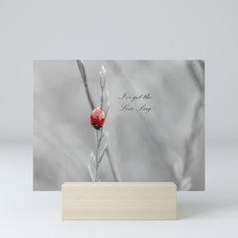 black and white lady bug Mini Art Print