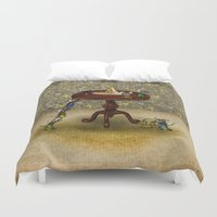 cheese Duvet Covers featuring Cheese by Anna Shell