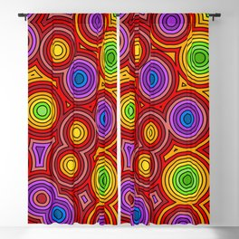 Bright Concentric Circles Blackout Curtain