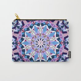 blue grey white pink purple mandala Carry-All Pouch