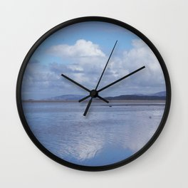 Clouds and Beach Wall Clock