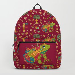 Frog, cool wall art for kids and adults alike Backpack