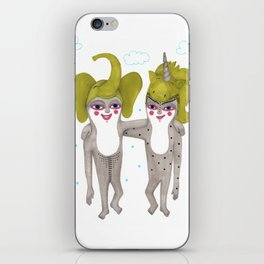 friends with costumes iPhone Skin
