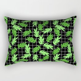 Leif - pattern grid minimal leaf repeating pattern hipster minimal iphone6 case for gender neutral  Rectangular Pillow