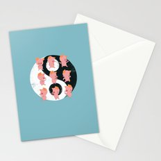 Pig Tai Chi Move Stationery Cards