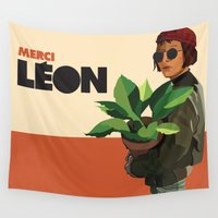 leon Wall Tapestries featuring Mathilda, Leon the Professional by Natalié Art&Living