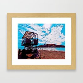 Burgh Island Sea Tractor Framed Art Print