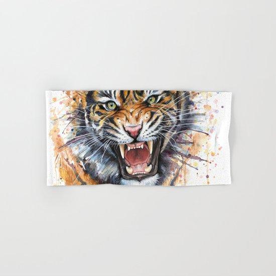 Tiger Roaring Wild Jungle Animal Hand & Bath Towel