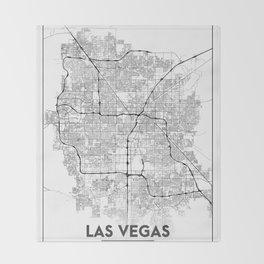 Minimal City Maps - Map Of Las Vegas, Nevada, United States Throw Blanket