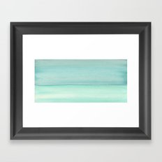 Turquoise and Teal Color block Framed Art Print