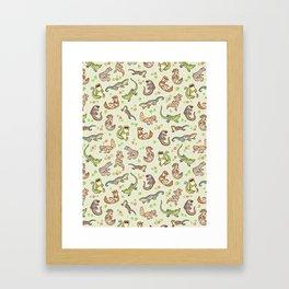 Spring geckos Framed Art Print